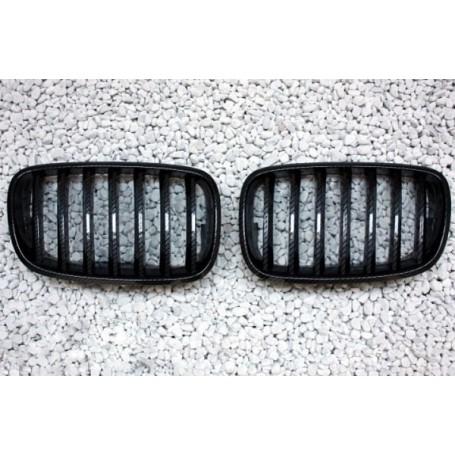 2x Grilles de Calandre BMW X5 E70 Carbone