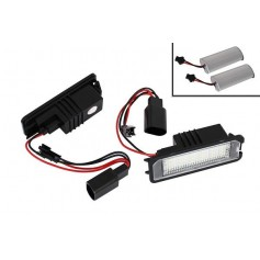 Eclairage de plaque LED - Blanc Pur Vw Golf 4, 5, 6, 7, Passat, Polo, Scirocco...