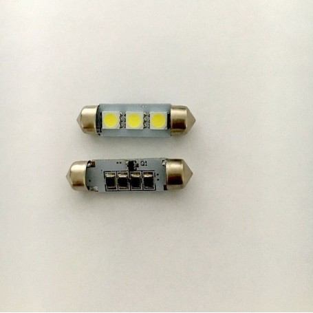 2x LED Navette C5W 36mm Blanc Anti Erreur