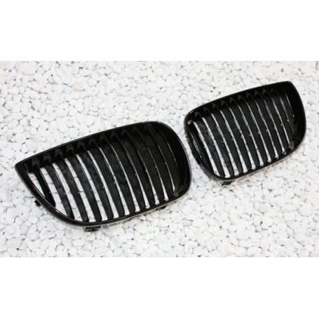 2x Grilles de Calandre BMW Serie 1 E81 E87 avec Pack M - Noir Brillant