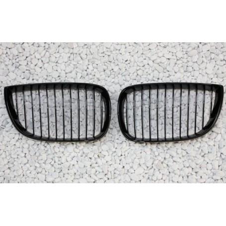 2x Grilles de Calandre BMW Serie 1 E81 E87 04-07 - Noir Brillant