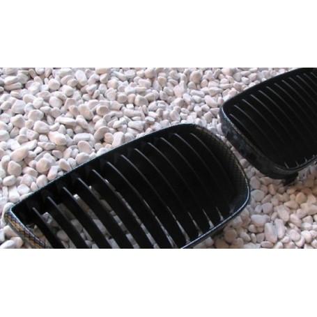 2x Grilles de Calandre BMW Serie 1 E81 E87 04-07 - Carbone
