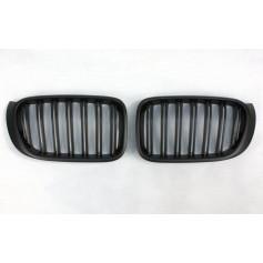 2x Grilles de Calandre BMW F25 X3 Facelift / X4 - Noir Mat