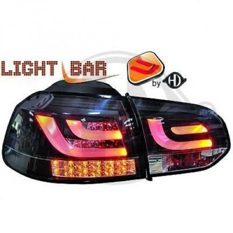 2x Feux à LED Golf VI Black