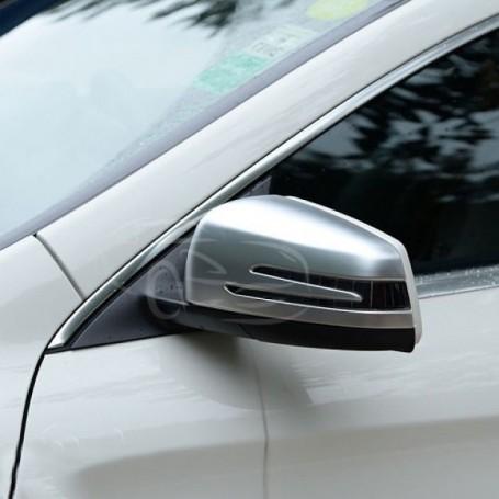 2x Coques retroviseur Alu brosse Mercedes W212 W204 W221 W176 W246 C218 W207