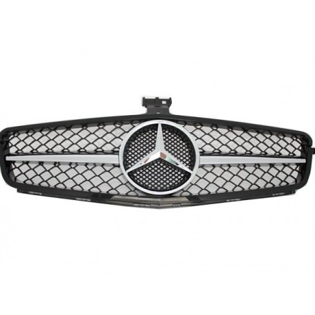 Calandre Mercedes Classe C Noir et Chrome W204