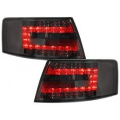 2x Feux arrieres Audi A6 C6 4F LED Fume 04-08