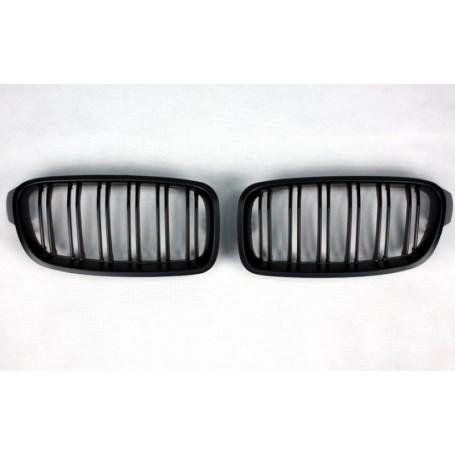 2x Grilles de Calandre BMW F30 F31 M Performance Noir mat