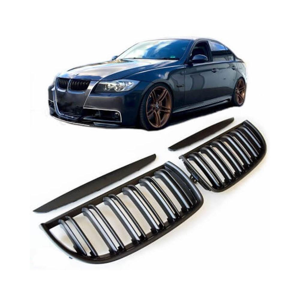 2x Grilles de Calandre Noir Mat BMW E90 E91 M Performance 05-08