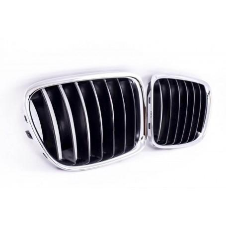 2x Grilles de Calandre BMW X1 E84 Noir/Chrome 09-