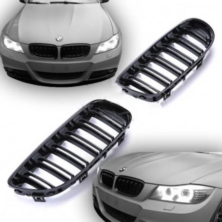 2x Grilles de Calandre BMW E90 E91 08-12 Noir Brillant M Performance