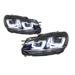 2x Phares LED pour Golf VI 6 look Golf 7 LED U Clignotants dynamiques 08-12