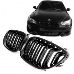 2x Grilles de Calandre BMW E60 / E61 M Performance Noir Brillant
