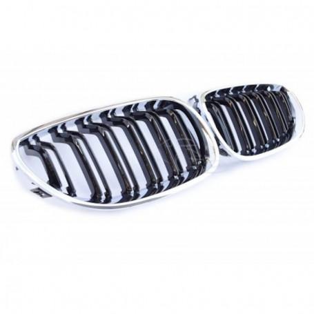 2x Grilles de Calandre BMW E60 - E61 M Performance Noir et chrome