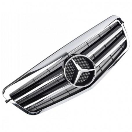 Calandre Mercedes Classe E Amg Design Noir et chrome W212 09-13