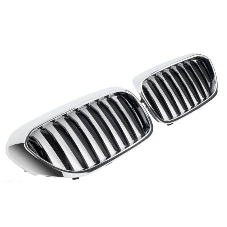 2x Grilles de Calandre Chrome et Noir BMW serie 5 G30 G31 +17