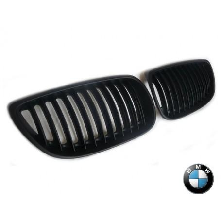 2 x Grilles de Calandre BMW E92 E93 06-10 - Noir Mat