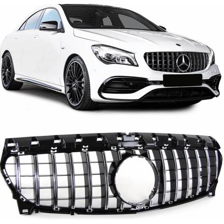 Calandre Mercedes CLA W117 noir chrome 16+