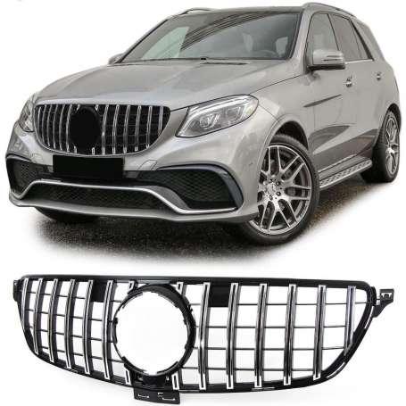 Calandre Mercedes GLE W166 Noir brillant/Chrome