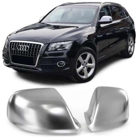2x Coques retroviseur Alu brosse Audi Q5, Q7