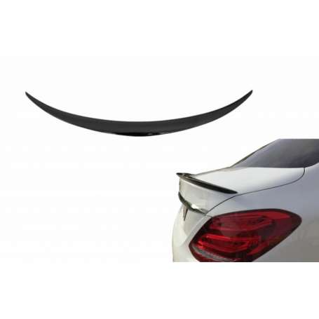 Becquet Mercedes Classe C berline W205 peint Noir brillant13-