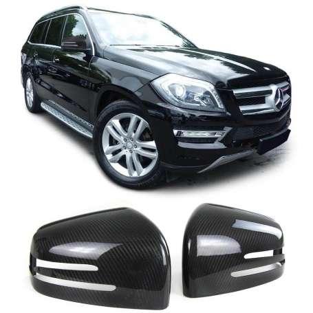 2x Coques de retroviseurs en carbone Mercedes G W463, GL X166, GLE W166