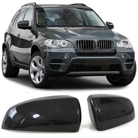 2x Coques de retroviseurs en carbone BMW X5 E70 X6 E71 06-13