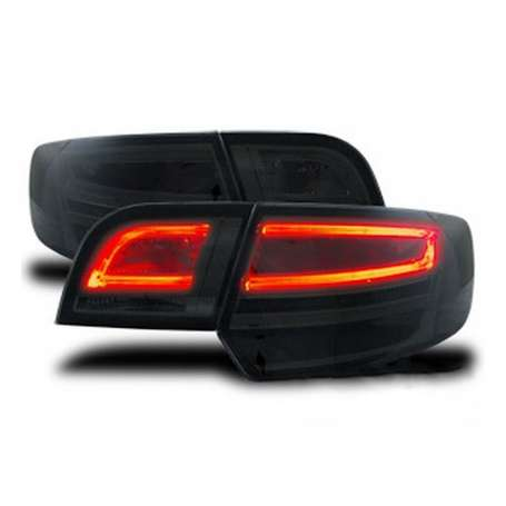 2x Feux arrieres fumés LED Audi A3 8P Sportback look Facelift 04-08 + Adaptateurs