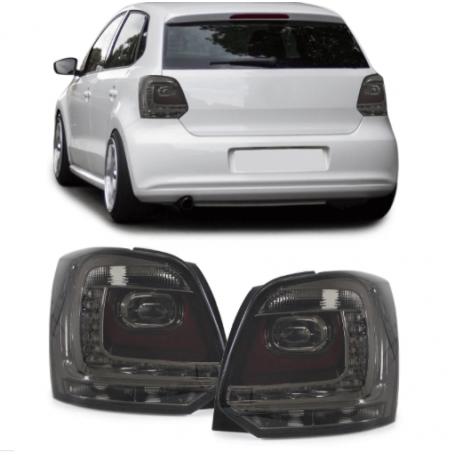 2x Feux arrieres Volkswagen Polo V 6R Noir fumé 09-14