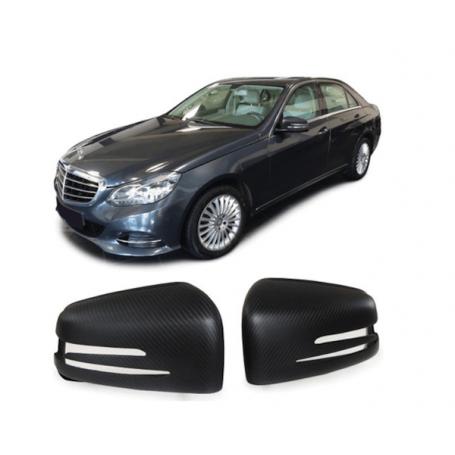 2x Coques Rétroviseurs carbone mat Mercedes Classe E W212 S W221 GLA