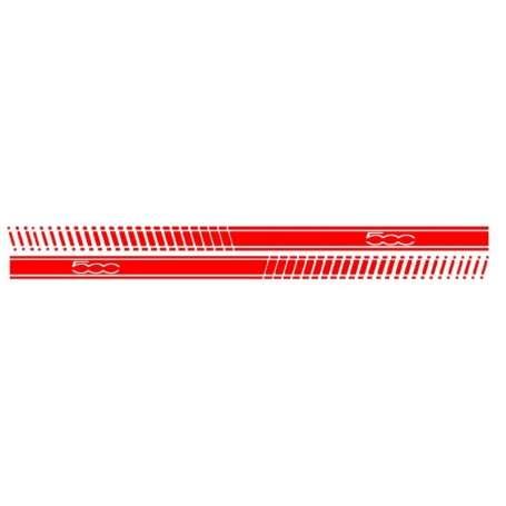Autocollant lateral vinyle rouge FIAT 500 (2007+)