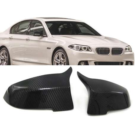 2x Coques Retroviseurs carbone BMW F10 F11 Serie 5 Facelift 13+