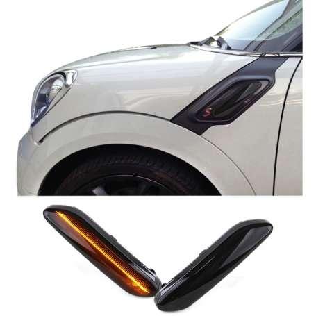 Clignotants à LED noirs fumés pour Mini R60 Countryman R61 Paceman (12-17)