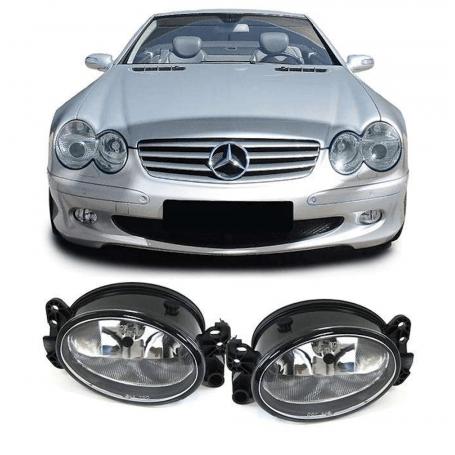 2x Phares anti brouillard Mercedes W204 W164 W463 W211 clair/transparent