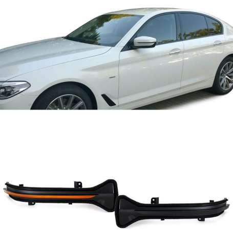 Clignotants à LED noir fumé BMW Série 5 G30 G31 Série 6 G32 GT Série 7 G11