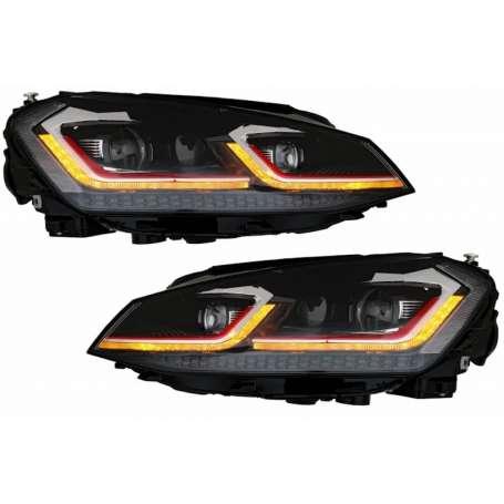 2x Phares LED Golf VII 7 look Facelift GTI 12-17