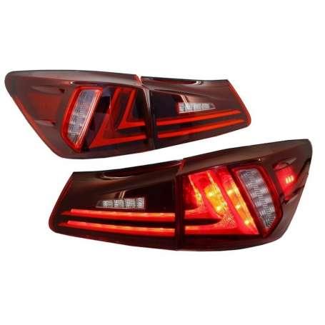 Feux arrières à LED adaptables sur LEXUS IS XE20 (06-12) Barre de signalisation Facelift New XE30 Rouge Clair