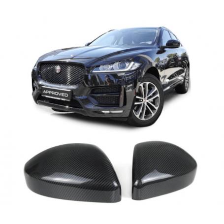 2x Coques retroviseur carbone Range Rover evoque, Jaguar F-Pace