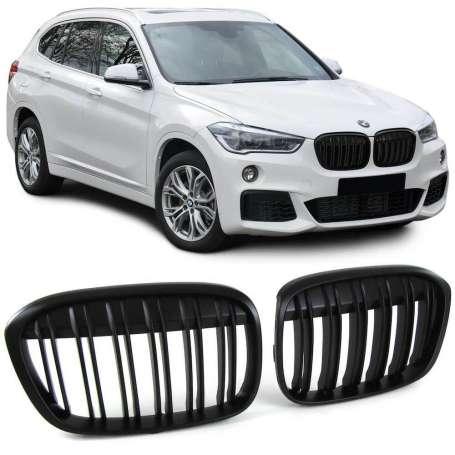 Calandre noire mat BMW X1 F48 (+14)