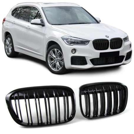 Calandre noire laquée BMW X1 F48 (14-18)