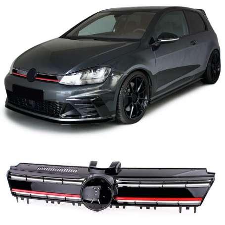 Calandre rouge et noire VW Golf 7 (12-17)