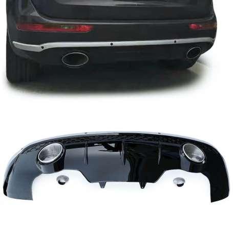 Diffuseur noir laqué + embouts d'échappement Audi Q5 8R (08-16)