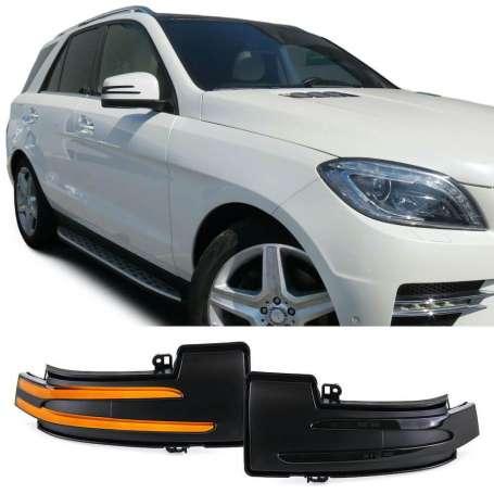 Clignotants noirs à LED dynamiques Mercedes ML W164 W166 / R W251 / G W463