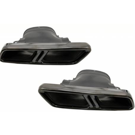 Embouts d'echappement Noir Mercedes Classe E W213 16+