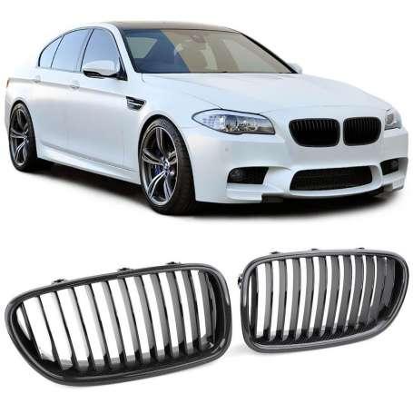 Grilles de calandre noir carbone BMW Série 5 F10 F11 (10-17)