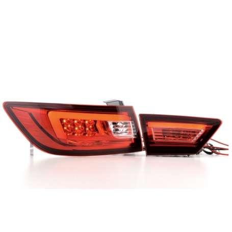 2x Feux arrières à LED Renault Clio 4 rouge/clair 12+