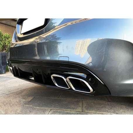 Diffuseur arriere + echappements Mercedes Classe C W205 S205 Look C63s avec pare choc AMG 14-18