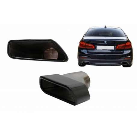2X Embouts d'échappement noirs BMW Série 5 G30 G31 17+ F10 F11 10-14 F10 F11 LCI 15-17 Série 6 G32 17+ M-Tech Sport Design