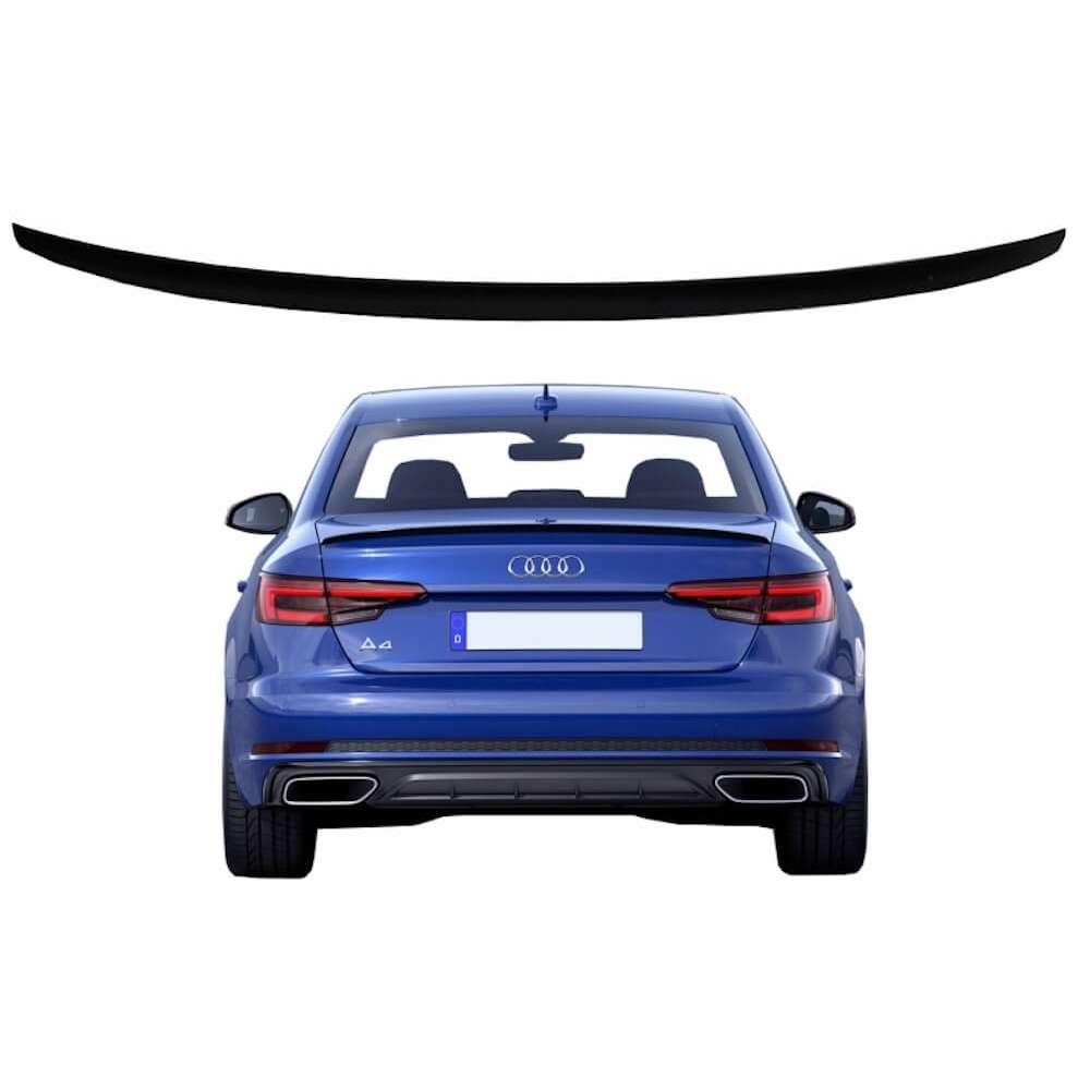Becquet de coffre adaptable sur Audi A4 B9 Berline (16+) Noir laqué
