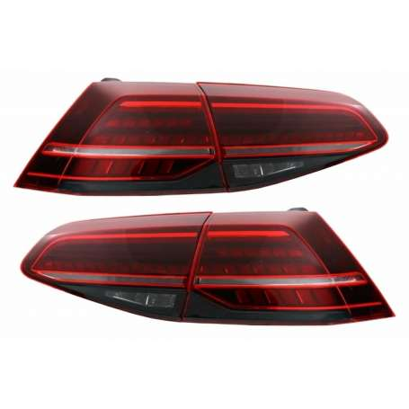 2x Feux arrieres GOLF VII 7 Look Facelift Cherry avec clignotants dynamiques 13-17